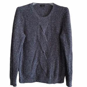Cozy Blue Talbots Long Sleeve Cotton Sweater XLP